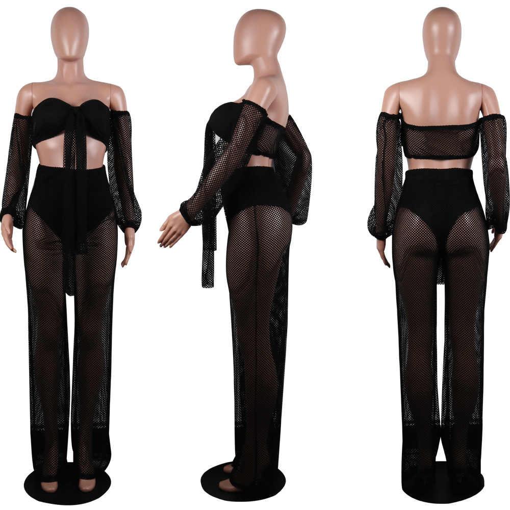 2019 летний модный сексуальный однотонный цветной фонарь с рукавом, открытая спина, с вырезом, укороченный топ, свободные штаны, женская одежда