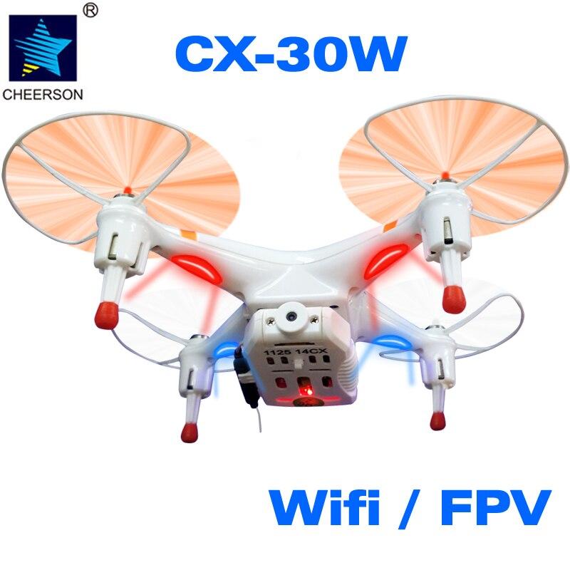 ФОТО Cheerson UAV Helicopter CX-30W 4CH TX 6 Axles 0.3mp Camera HD FPV 2.4G 3D FILP Phone WiFi Control Quadcop