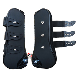 Бесплатная доставка лошадиные неопреновые сапоги для поврежденного сухожилия, полиуретановая оболочка. Защита от прыжков, черный цвет