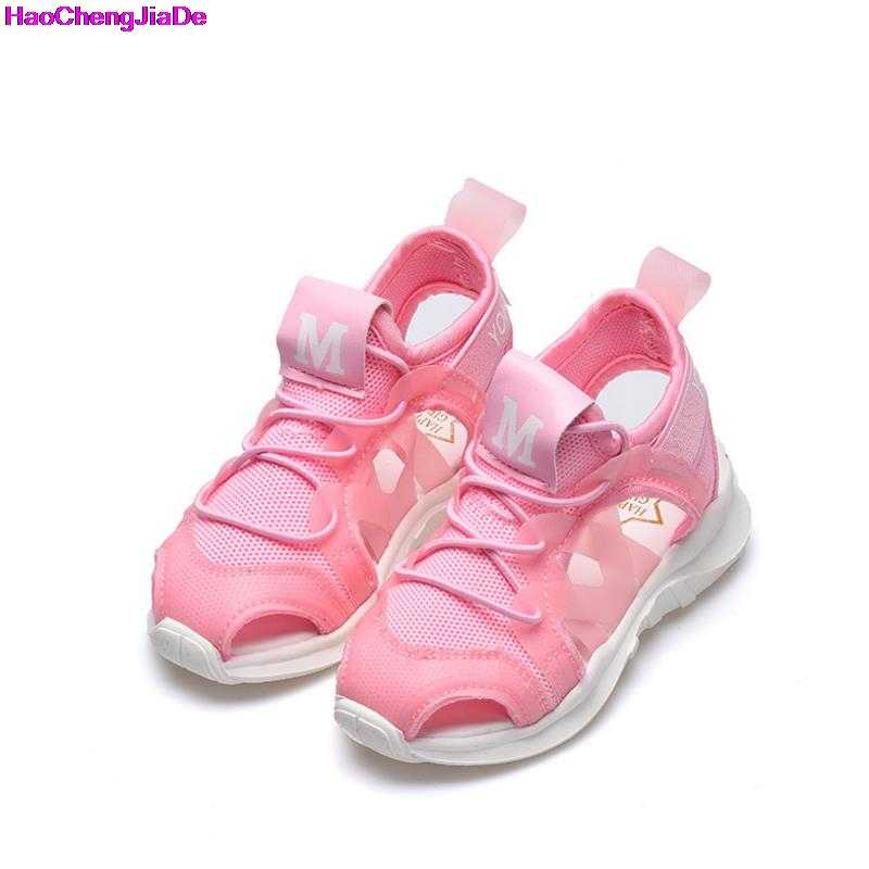 HaoChengJiaDe Kids New Arrivals Outdoor Beach Child Boys Sandals Shoes Flat With Fashion Cloth Soft Bottom Boys Sandals For Girl