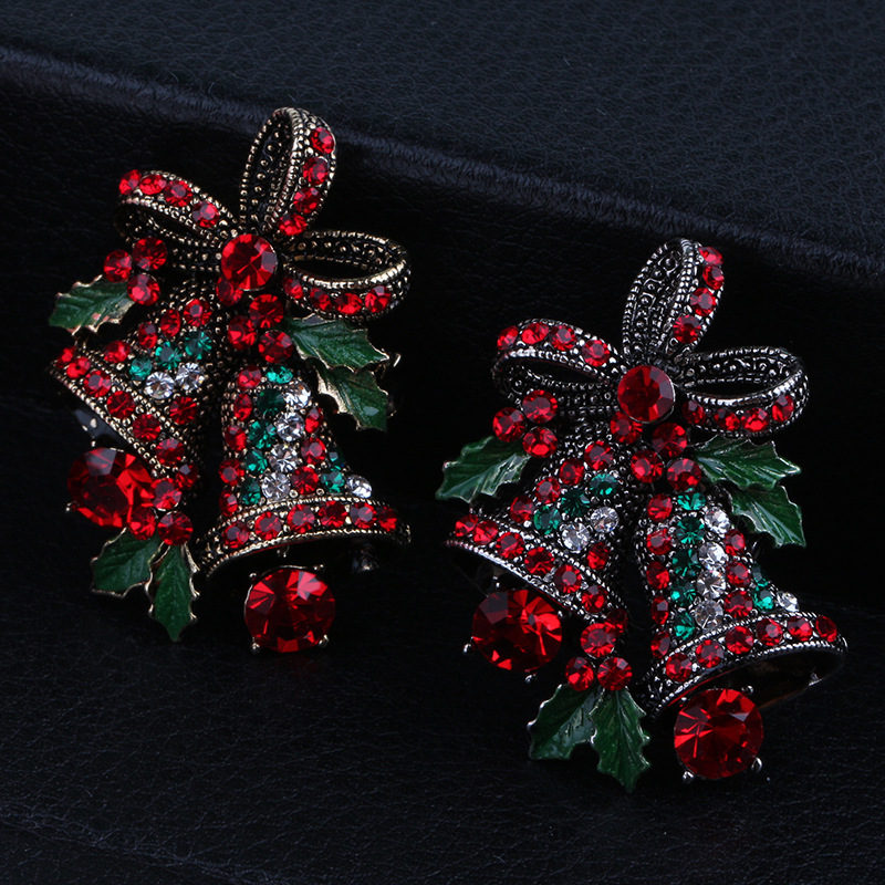Coat Western Ornament Badge Christmas New Year Gift Vintage Enamel Pin 3 Layer Tassel Pin
