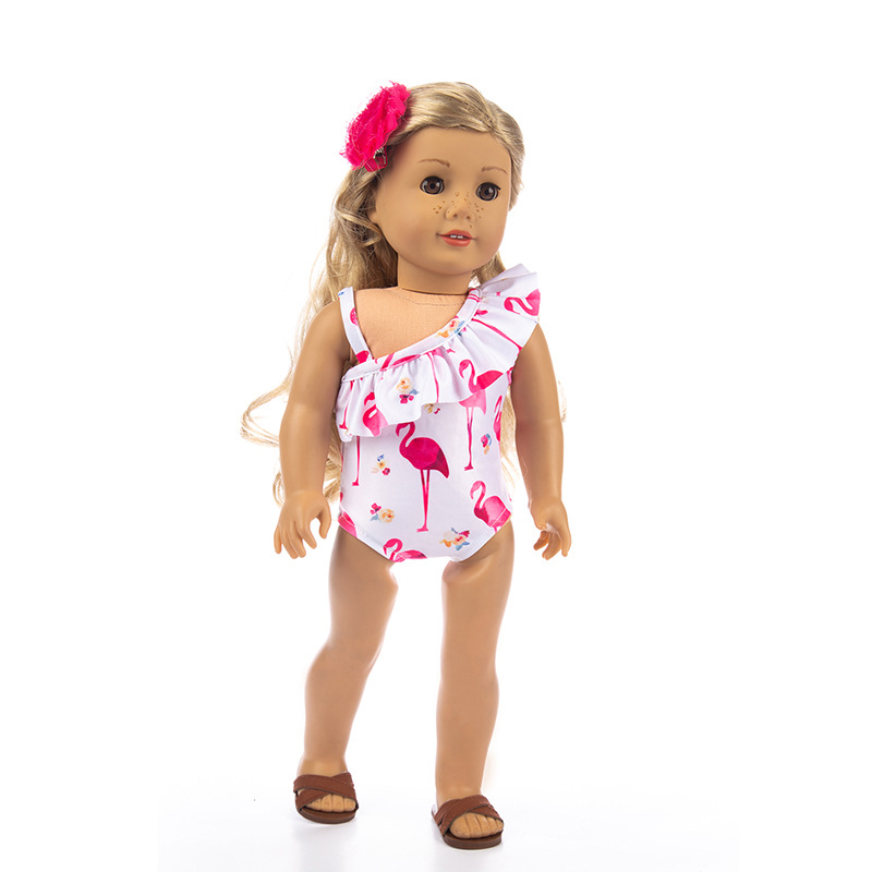 Cartoon Fashion Swimsuit Set Casual Clothes for dolls fits 43cm Baby Born zapf d