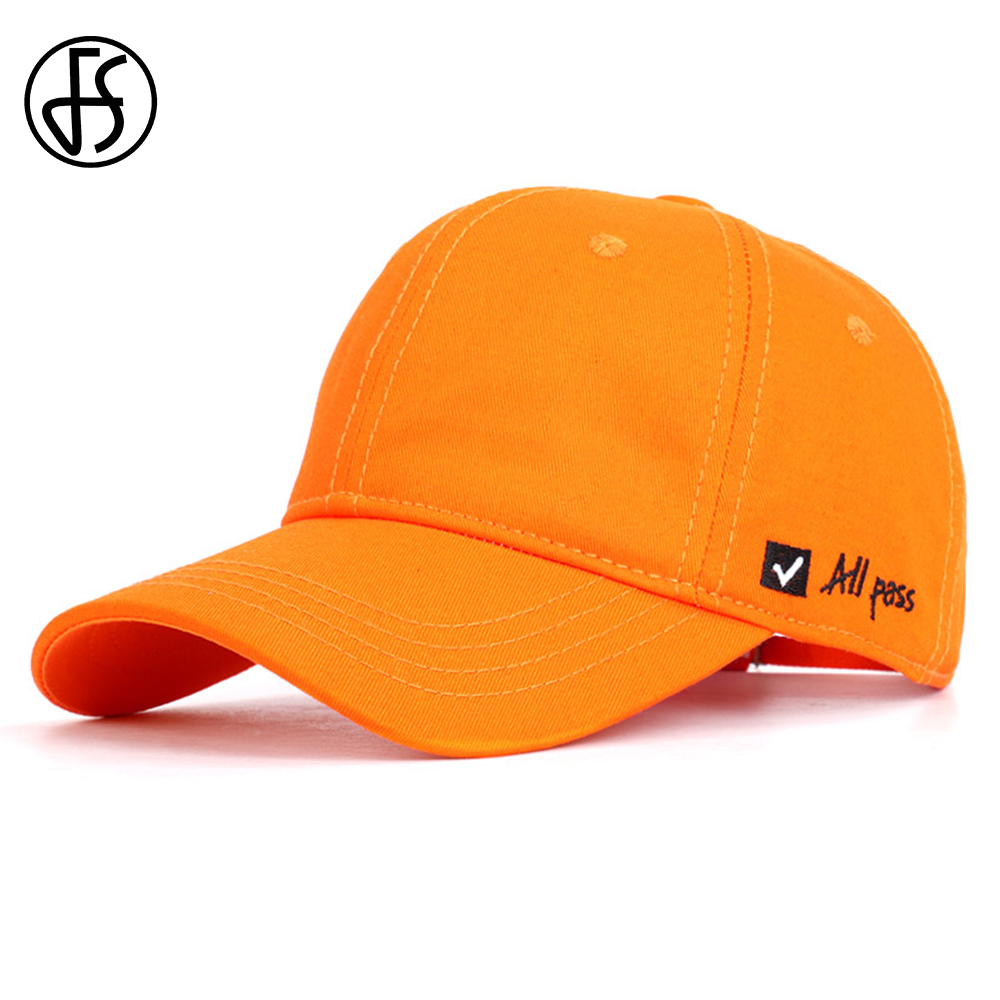 FS Streetwear Outdoor Fashion Face   Cap   For Men Women High Quality Cotton Orange Hip Hop Hat Summer   Baseball     Caps   Dad Hats 2019