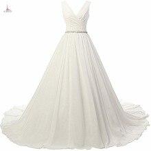 ad839367f49 Кот простой элегантный шифоновый пояс-кушак Бисер свадебное платье  принцессы платье v-образным вырезом сексуальный корсет спинки.