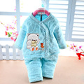 2016 Spring New Baby Kids Children Clothing Set Boys Girls Clothes Cartoon Sport Suit warm with soft track to track baby clothes