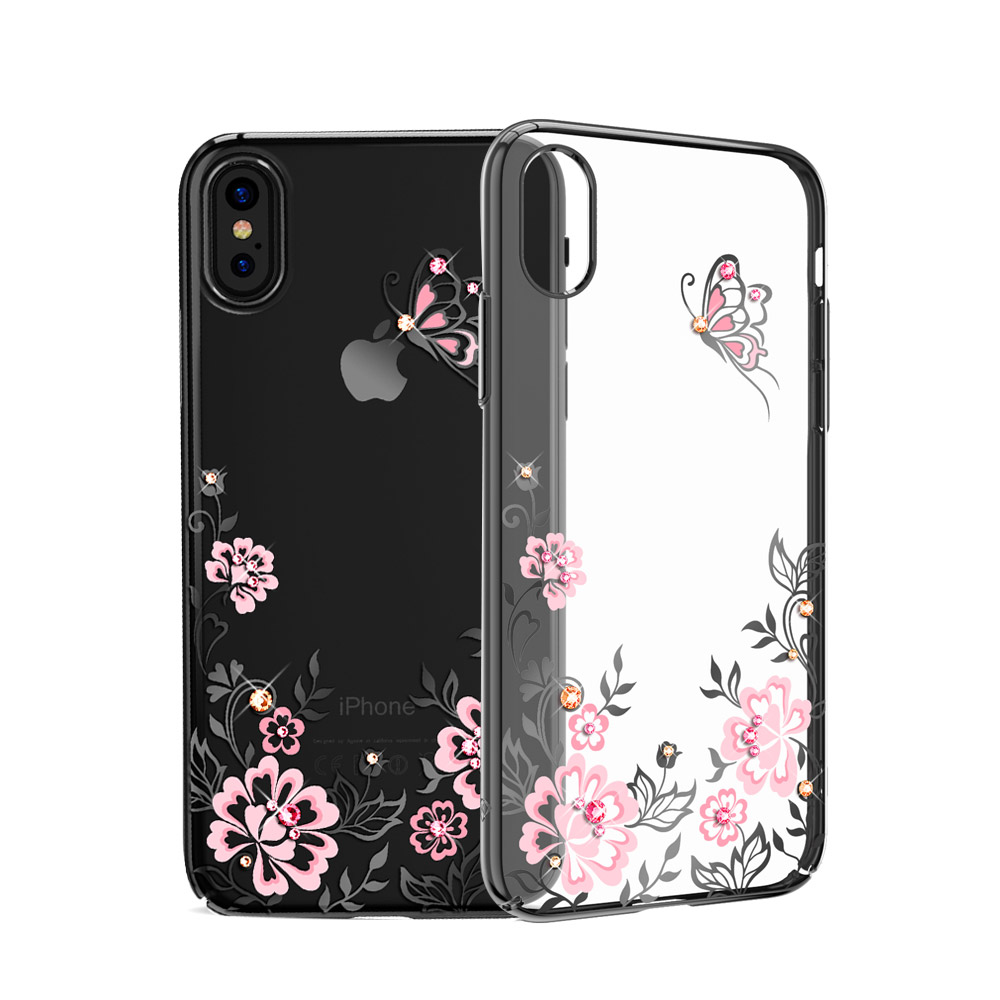 separation shoes 354c9 b1eb9 US $14.99 |KINGXBAR for iPhone X Case Swarovski Element Rhinestone Capa  Crystal Diamond Case for iPhone X Case Cherry Blossom Flower Coque-in ...
