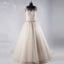 RSW966 Yiaibridal Real Job A Line Sleeveless Wedding Dress