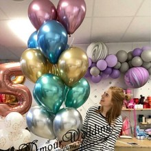 50pcs 12inch Metallic Balloons