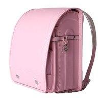 Fashion Pretty Student Backpack PU Orthopedic Bookbags School Bag Children Backpack for Boy and Girl Japan Randoseru Kid Solid