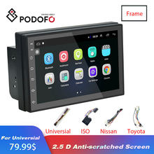 Podofo Android 8.1 2 Din Auto radio Multimedia Video Dvd-speler Universele auto Stereo GPS KAART Voor Volkswagen Nissan Kia TOYOTA(China)