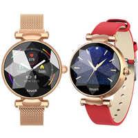 2019 B80 reloj inteligente para mujer reloj inteligente monitor, seguidor Fitness de frecuencia cardíaca reloj inteligente pulsera Bluetooth resistente al agua para mujer