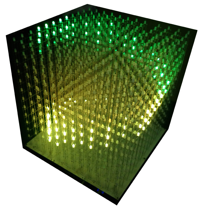 3D 12 RGB121212 full color cubic led cubic DIY kit semi finished products without shell