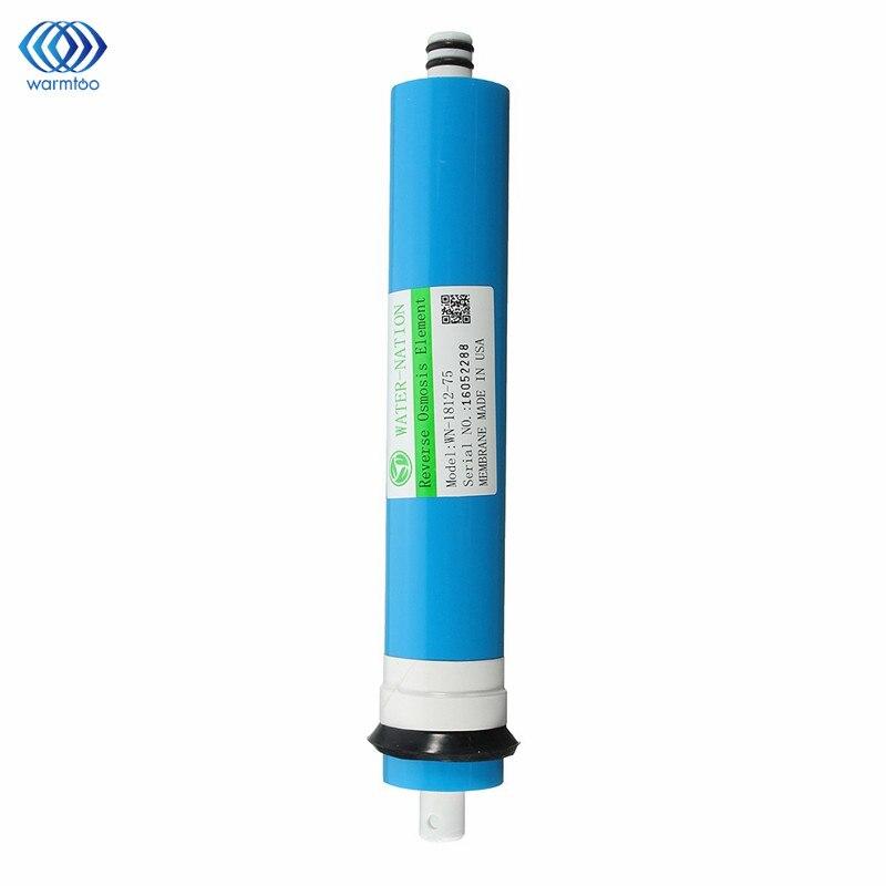 Hogar 75 GPD ro Membrana de ósmosis inversa sistema de filtro de agua de repuesto filtración de agua de purificación reducir las bacterias Cocina