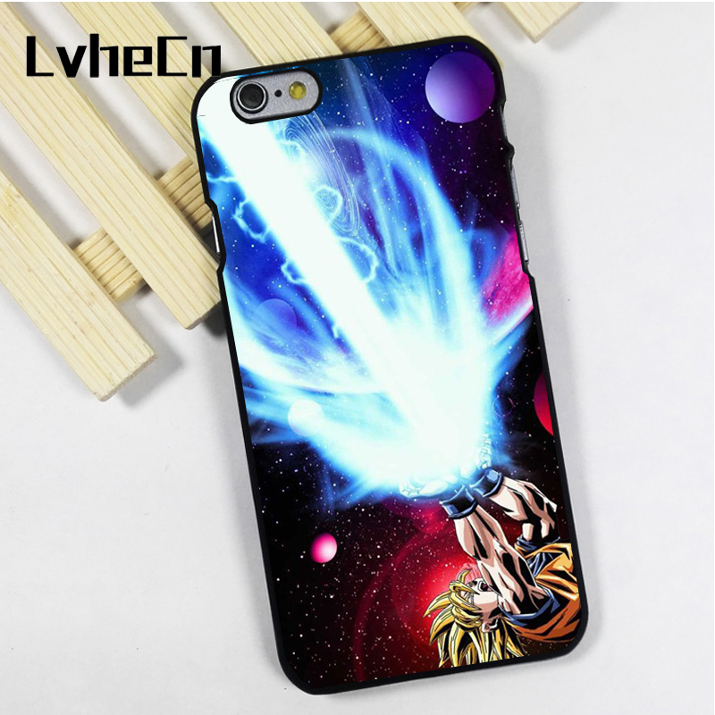 LvheCn phone case cover fit for iPhone 4 4s 5 5s 5c SE 6 6s 7 8 plus X ipod touch 4 5 6 Dragon Ball Z Gohan Goku Epic