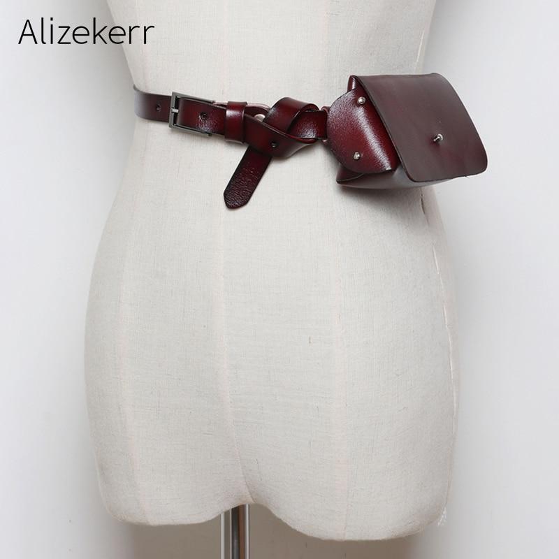 Retro Mini Waist Bag Belt Women Euro-American Style Money Thin Belt Small Waist Pack Coin Purse Women Bum Belly Bags For Phone