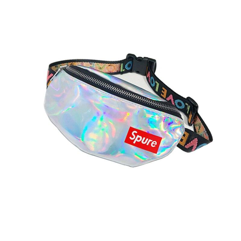 LXFZQ waist pack laser pocket bag diagonal bag 6 colors fanny pack hologram pouch belt heuptas waist women chest bag holographic