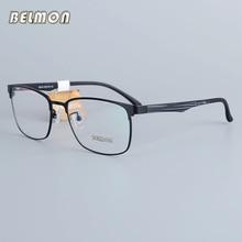 Belmon Eyeglasses Frame Men Computer Optical Prescription Myopia Nerd Clear Lens