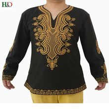Фотография H&D  2017 New style African bazin rich Traditional embroidery 100% cotton Dashiki African Traditional Clothing  Hot sell