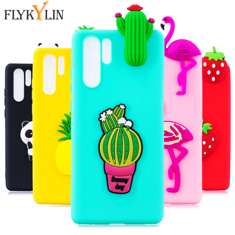 For Huawei P30 Lite Case on for Coque Pro Cover P20 3D Doll Toys Silicone Phone