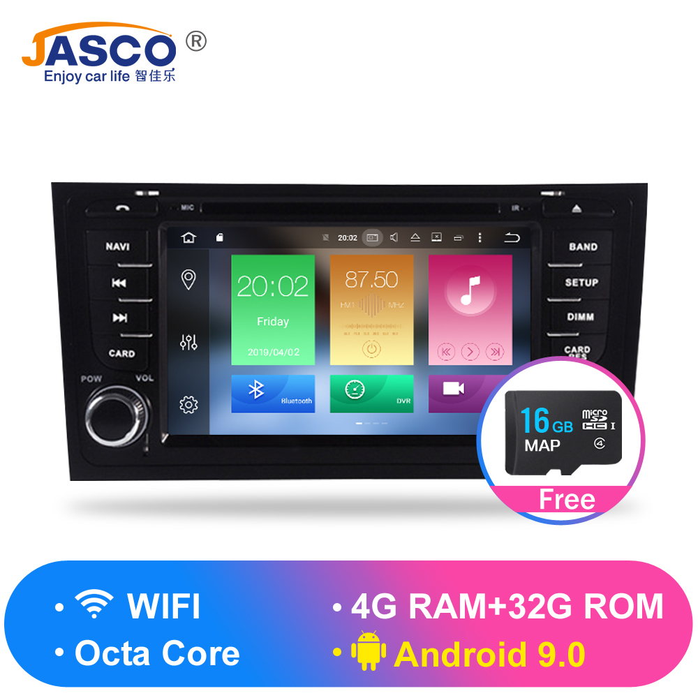 Android 9.0 Car DVD Stereo Multimedia Headunit For AUDI A6 1997 2004 S6 1997+ Auto PC Radio GPS Navigation Video Audio 4G RAM