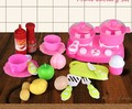Plastic fruit vegetable kitchen cutting toys dinnerware set children kitchen toys for girls cooking toys kids role playing game