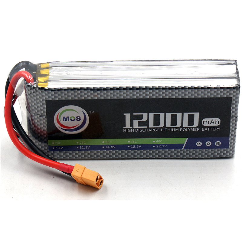 MOS RC LiPo Battery 14.8V 12000mAh 25C 4S For RC Airplane Drone Helicopter 4S Li-Po Batteries Cell Free Shipping mos rc lipo battery 22 2v 12000mah 25c 6s for airplane drone quadrotor car boat factory outlet free shipping
