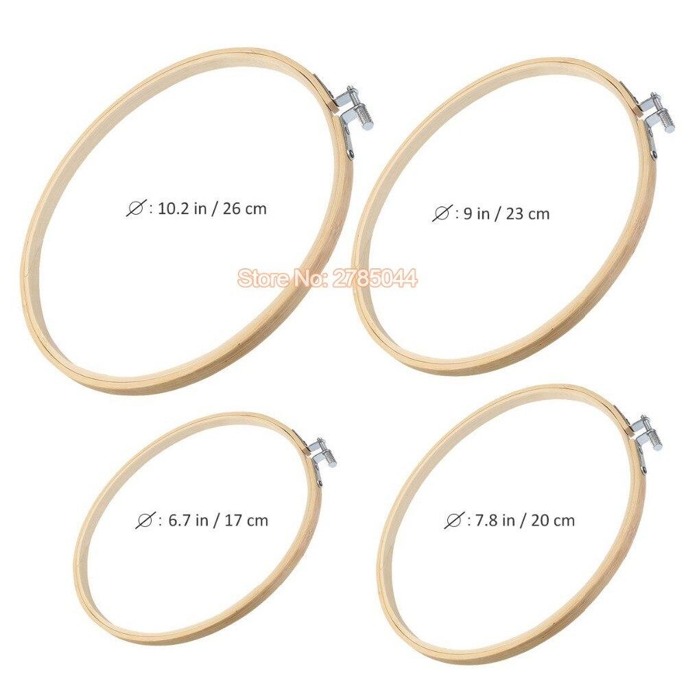 4 stücke stickrahmen set bambus kreis kreuzstich hoop ring display ...