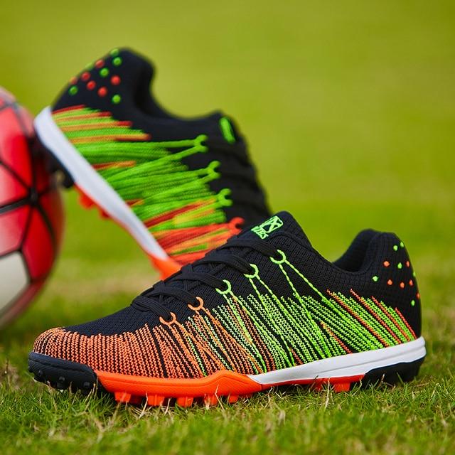 original flywire Botas fútbol Fútbol para tacos Zapatos Zapatos picos Nuevo naranjaazul 2017 atletismo AL4R5j3