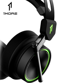1MORE H1005 USB Gaming Headset Spearhead VR E-Sports Headphones 7.1 Surround Sound Game LED Light Earphone for PC Computer Gamer 1