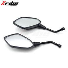 for 2PCS Universal Motorcycle Side Mirrors 8mm 10mm Stem REARVIEW MIRROR For Triumph Daytona 955i Speed Triple Four S