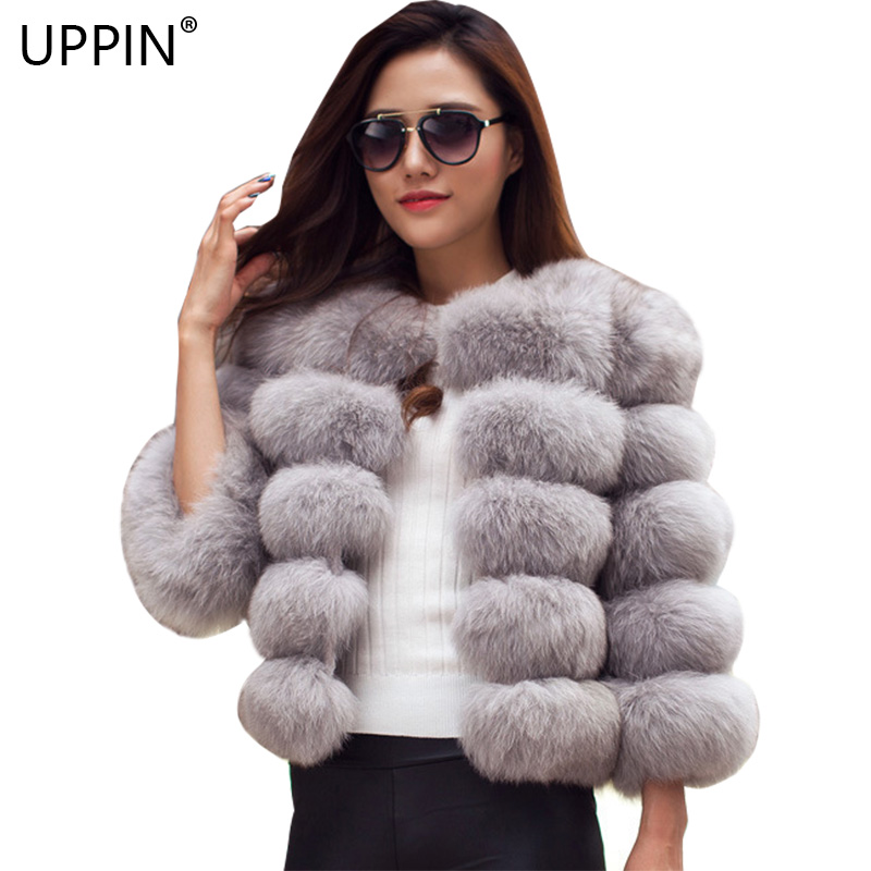 bc753769c UPPIN Big Size Coats Women 2018 Winter New Fashion Pink Faux Fur ...