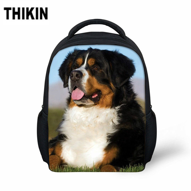 THIKIN Cute Bernese Mountain Dog Baby Boys Kindergarten Schoolbag Nursery School Children Animal Schoolbags Backpack Book Bag(China)
