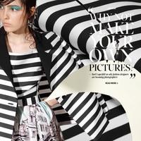 Black and white big wide stripe fabrics yarn dyed cotton apparel fabric