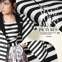 Black and white big wide stripe fabrics yarn dyed cotton apparel fabric