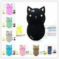 2016 mais novo 3d bonito encantador dos desenhos animados animal cat soft silicone rubber case capa para iphone 5 5s 5c c 4 4S se 6 6 s além de