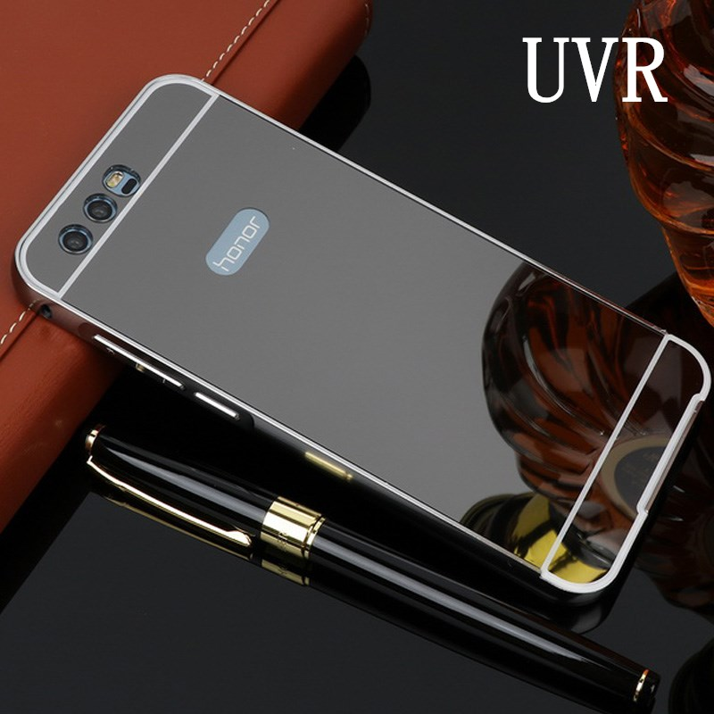 UVR For Huawei Honor 9 Case Mirror Aluminum Metal Bumper Hard PC Back Cover For Huawei Honor9 Case Fundas Phone Cases For Honor9