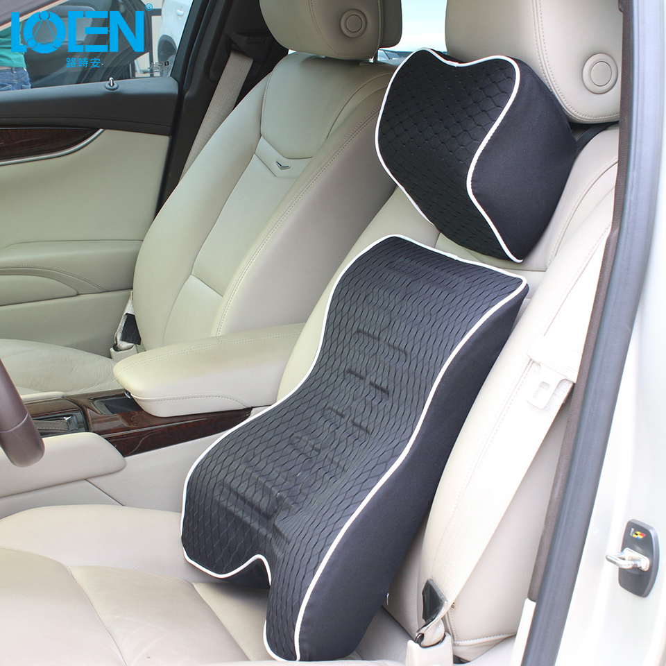 1set 3d space memory cotton car seat covers for car styling cushion lumbar back supports and. Black Bedroom Furniture Sets. Home Design Ideas