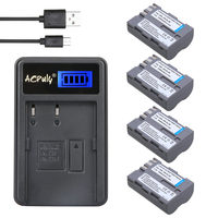 New 4Pcs EN EL3E EN EL3e ENEL3E EN EL3E Replacement Batteries LCD USB Charger For Nikon