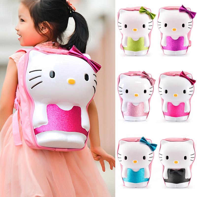 Gadis Busana Hello Kitty Lucu 3D Tas Sekolah Anak Anak