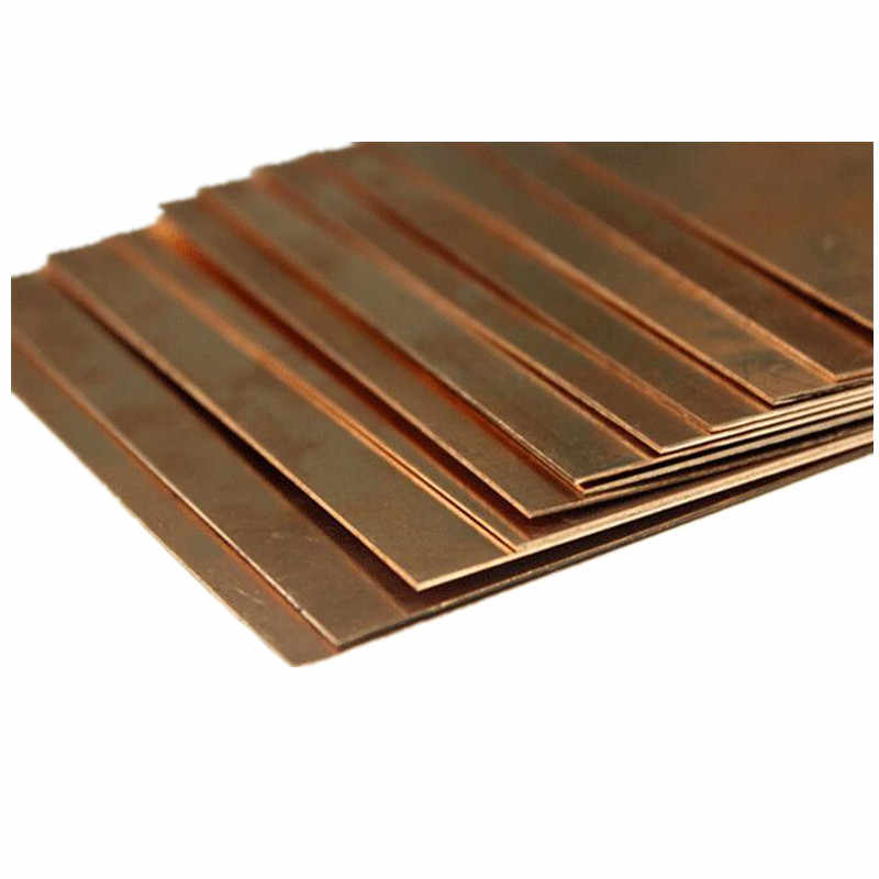 99.9% bằng đồng có độ tinh khiết tấm kim loại tấm Đẹp Cơ Học Hành Vi và độ Ổn Định Nhiệt 100x100x0.8mm 1 cái