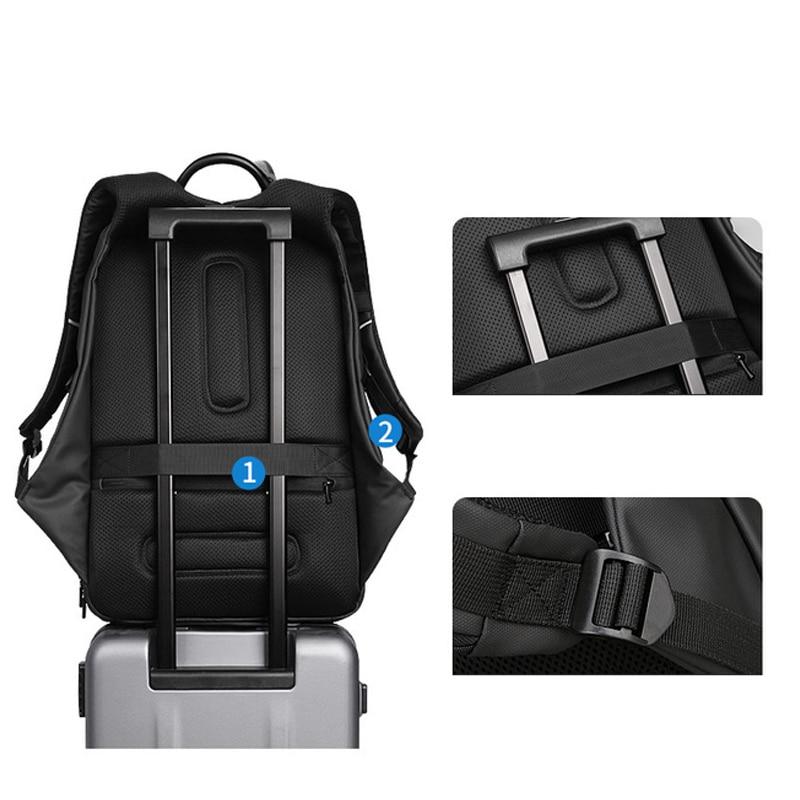 Multifuncional Popular 2018 de alta calidad de cuero genuino mochila grande para hombre bolsa de ordenador portátil mochila negra de negocios ipad bolsa de viaje - 5