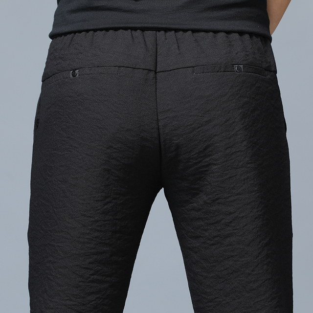 Jantour 2019 Spring Summer New thin Casual Pants Men Cotton Slim Fit Chinos Fashion Black Trousers Male Brand Clothing Plus Size 43