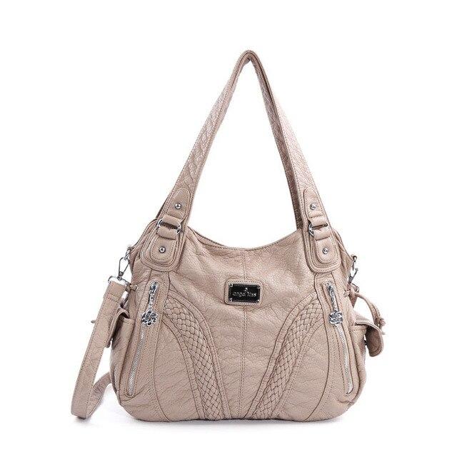 Женская сумка из искусственной кожи в европейском и американском стиле, однотонные женские сумки различных цветов, сумка на одно плечо, Диагональная Сумка-седло ZF9645