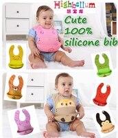 Cartoon Silicone Baby Bibs Burp Cloths Baby Soft Bibs Waterproof Child Bib Baby Feeding Baby Animal