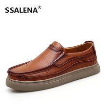 Men Non-Slip Thick Sole Fashion Loafers Leather Shoes Men Comfortable Casual Shoes Male Oxford Shoes Big Size  38-48 AA12297