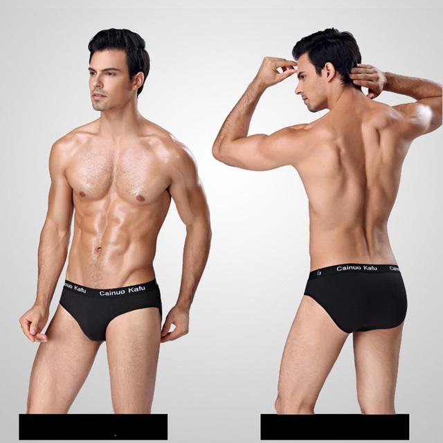 5pcs/lot Men Briefs Comfy Model Sexy Underwear Solid Briefs Factory Men Bikini Underpants Panties Plus L-5XL 6XL (7XL=One Size)