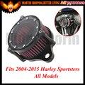 Para Harley Sportster XL883 1200 2004-2015 Novo Feito Sob Encomenda Clara Motocicleta Filtro De Ar + Filtro De Admissão Syetem Áspera Artesanato