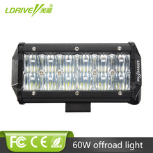 цены на 5D 7 Inch 60W 1PCS LED Light Bar for Work Indicators Driving Offroad Boat Car Tractor Truck 4x4 SUV ATV 12V 24V Car LED Fog Lamp  в интернет-магазинах