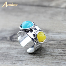 Anslow Classic Trendy Bijoux Charms Punk Rock Adjustable Rings For Women Men Cool Large Jewelry Accessories Fathers  LOW0039AR