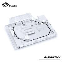 Bykski Water Blok gebruik voor AMD RADEON R9 Nano Openbare Versie Radiator Volledige Cover Grafische Kaart Koperen Radiator Blok RGB